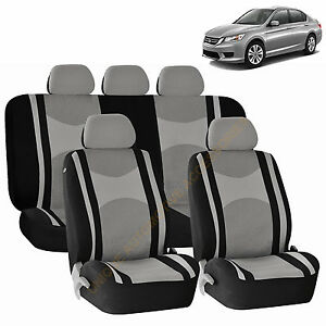 Gray Front Back Split Bench Seat Covers 9pc Set For Honda Pilot