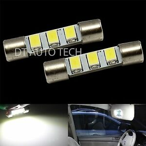2x High Power 5630 Led Bulbs Sun Visor Vanity Mirror Lights Fuse Shape 6641 29mm
