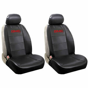 4piece Universal fit Black Synthetic Leather Side Less Front Seat Covers For Gmc