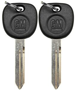 2 New Ignition Key Uncut Blade Blank For Gm Chevy Silverado Truck Van