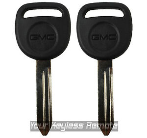 2 New Logo Ignition Key Uncut Blade Blank B102 Truck Van Pickup For Gm Gmc