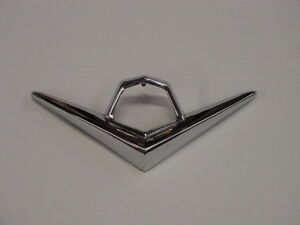 1955 Dodge Custom Royal Lancer D500 Coronet Hood V Ornament V8 Nos Mopar Chryco