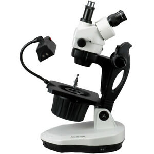 Amscope 3 5x 90x Advanced Jewel Gem Stereo Zoom Microscope