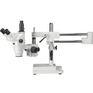 Amscope 2x 180x Ultimate Trinocular Stereo Zoom Microscope On 3d Boom Stand