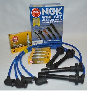 Acura Integra Ngk Japan Blue Spark Plug Wire Set He82 ngk Platinum Colder Plug