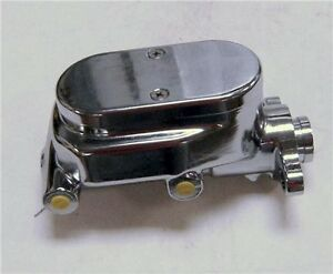 Gm Smooth Top Chrome Aluminum Brake Master Cylinder 1 Bore Four Ports
