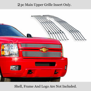 Fits 2011 2013 Chevy Silverado 2500 3500 Hd Billet Grille Grill Insert