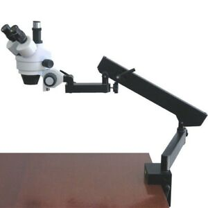 Amscope Sm 6tx 3 5x 45x Trinocular Articulating Zoom Microscope With Clamp