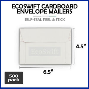 500 6 5 X 4 5 Self Seal Rigid Photo Shipping Flats Cardboard Envelope Mailers