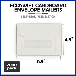 2000 6 5 X 4 5 Self Seal Rigid Photo Shipping Flats Cardboard Envelope Mailers