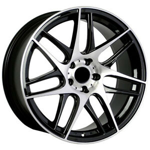 19 S line Style Wheels 5x112 35 Black Machine Rim Fits Audi S4 1993 2008