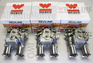 3 Genuine Weber 45 Dcoe 152 Triple Side Draft Carb Carburetor 45dcoe New