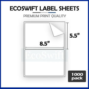 2000 8 5 X 5 5 Xl Premium Shipping Half sheet Self adhesive Ebay Paypal Labels