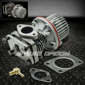 40mm 4 Bolt External Turbo Wastegate Bypass Exhaust W 10psi Spring Flange Silver