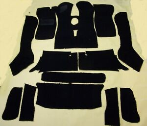 Triumph Tr7 Tr8 Convertible Black Loop Carpet Kit With 20 Ounce Padding