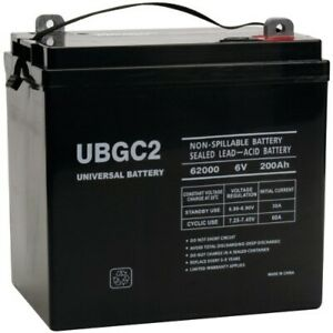 New Ubgc2 Sealed Agm Deep Cycle 6v 200ah Battery Golf Cart Rv Boat Camper Solar