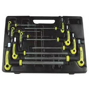Astro Pneumatic 1026 9 Piece T Handle Hex Key Wrench Set