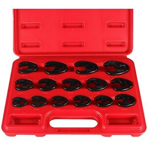 Astro Pneumatic 7115 15 Piece Pro Metric Crowfoot Wrench Set