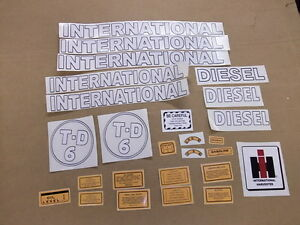 International Td 6 0r Td 9 Crawler Vinyl Decal Set All Decals On Tractor