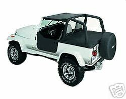 Jeep Wrangler Custom Fit Bikini Soft Top Black Fits Tj Yj 1992 1993 1994 1995