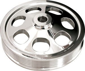 Billet Specialties Sbc Polished Power Steering Pump Pulley Press On Serpentine