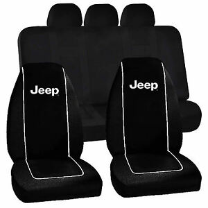 Premium Black High Back Seat Covers Universal Fit Bench Seat Cover For Jeep