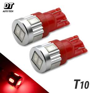 2x T10 921 High Power 2835 Chip Led Red License Plate Interior Lights Bulbs