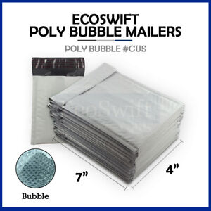 1 0000 4x6 Poly Bubble Mailers Padded Envelope Shipping Supply Bags 4 X 6