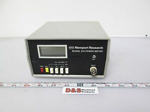 Newport Research 815 Power Meter 9vdc Bnc 1mw 1 w needs Battery