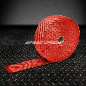 T1 Racing Exhaust Header Turbo Manifold Downpipe Heat Wrap 2 x 1 16 X 404 Red