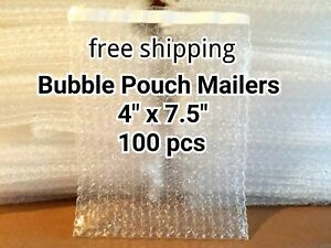 Lots Of 100 4 X 7 5 Bubble Out Bags Pouches Self Seal Mailers Bags Wrap Clear
