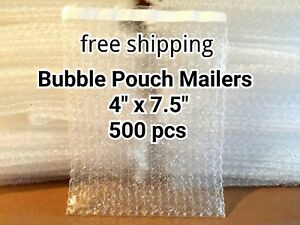 Lots Of 500 4 X 7 5 Bubble Out Bags Pouches Self Seal Mailers Bags Wrap Clear
