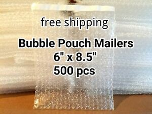 Lots Of 500 6 X 8 5 Bubble Out Bags Pouches Self Seal Mailers Bags Wrap Clear