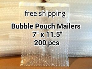Lots Of 200 7 X 11 5 Bubble Out Bags Pouches Self Seal Mailers Bags Wrap Clear