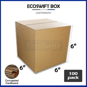 100 6x6x6 Cardboard Packing Mailing Moving Shipping Boxes Corrugated Box Cartons