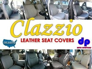 03 07 Ford E150 250 350 Cargo Van Clazzio Leather Seat Covers Black Front Row