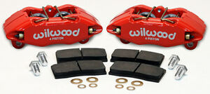 Wilwood Dpha Brake Caliper Pad Set Front Stock Replacement Honda Acura Red