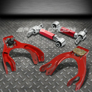 Red Front rear Camber Control Suspension Kits arm 92 95 Civic Eg ek integra Dc2