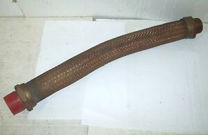 Duff Norton 1 1 4 Npt X 20 Bronze Flexible Metal Braided Corrugated Hose Assy