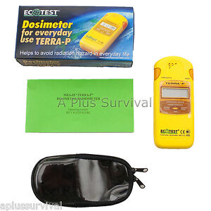 Terra p Radiation Detector And Dosimeter Nuclear Geiger Counter Survival Kits