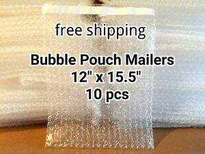 10x 12 X 15 5 Bubble Out Bags Pouches Self Seal Mailers Bags Clear