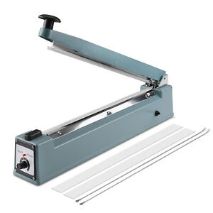 12 300mm Manual Impulse Heat Sealer 400w Poly Bag Machine Shrink Wrap Free Elem