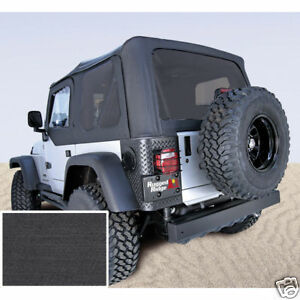 Xhd Black Replacement Soft Top Jeep Wrangler Yj 1988 95 13722 15 Rugged Ridge