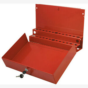 Sunex 8011 Large Locking Screwdriver pry Bar Holder For Service Cart red