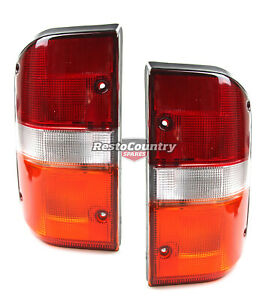 Suit Nissan Patrol Gq Complete Taillight Pair Left Right Brake Indicator Globe