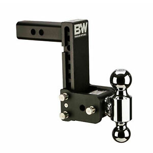 B w Hitches Ts10040b Tow Stow 7 7 5 Adjustable Dual Ball Mount Receiver Hitch