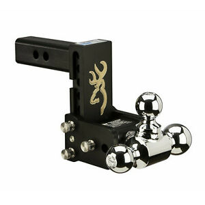 B w Hitches Ts10048bb Tow Stow Adjustable Tri Ball Mount Hitch W browning Logo