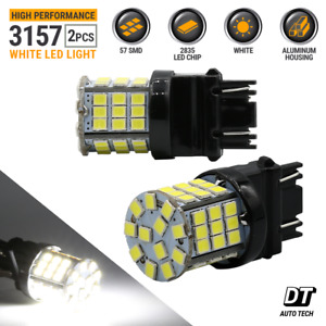 3157 3156 Led 6000k White Reverse Backup Light Bulbs Brake Turn Signal Parking