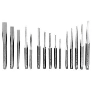 K Tool 72901 Punch Chisel Set 15 Piece In Plastic Tray
