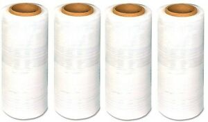 4 Rolls Blown Stretch Wrap 18 X 1500 Ft 80 Gauge Shipping Clear Shrink Wrap